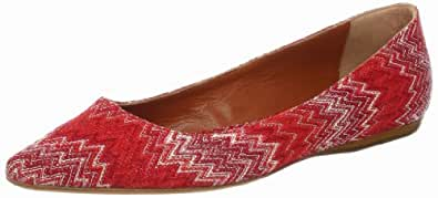 Missoni Women's Pointy Flat,Red,39.5 EU/39.5 M US