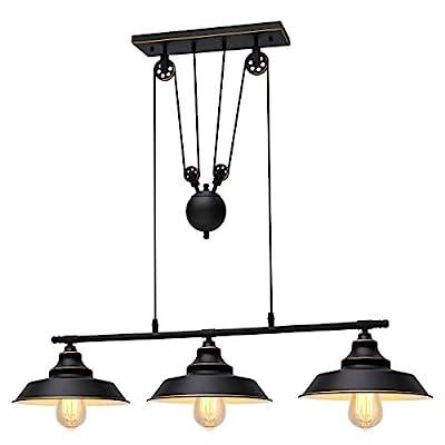 KingSo Three-Light Pulley Pendant Light