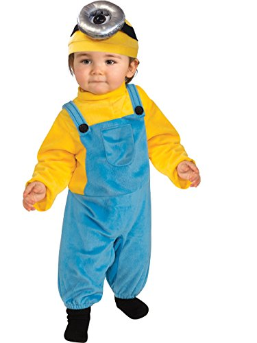 (Rubie's Baby Boys' Minion Stewart Romper Costume, Yellow, Toddler)