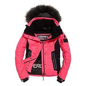 Superdry Veste De Ski Luxe Snow Puffer Pink