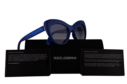 Dolce & Gabbana DG6110 Sunglasses Blue w/Blue Gradient Lens 52mm 312219 DG - Gabbana Dolce And Sunglasses Blue