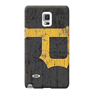 Samsung Galaxy Note 4 Bumper Hard Cell-phone Case Unique Design Vivid Pittsburgh Pirates Pattern [xMc1629usUj]
