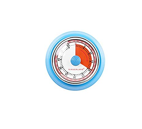 Kikkerland KT051 B Magnetic Kitchen Timer, Blue
