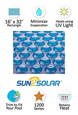 Sun2Solar Rectangle Solar Covers for Above-Ground and In-Ground Swimming Pools - 12 Mil from Sun2Solar