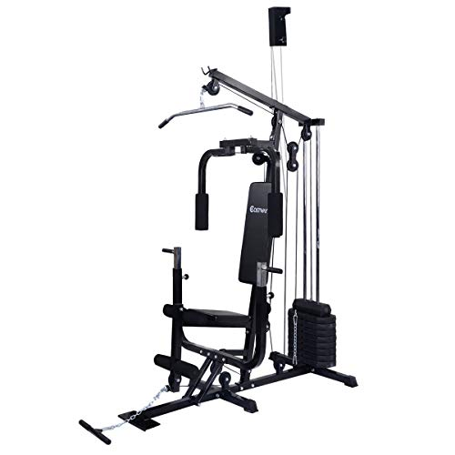 COSTWAY Home Gym Multifunction Fitness Station Workout Equipment Fitness Strength Machine Weight Training Exercise