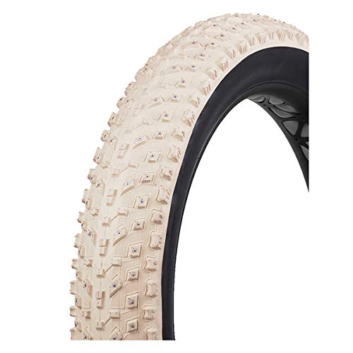 (Vee Rubber Snow Avalanche Studded Winter Fat Bicycle Tire (White - 26 x 4.0))