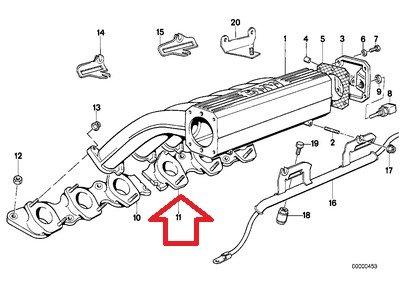 for 850Ci 850CSi 750iL 750iL 750iLP E31 E32 E38 2 X BMW Genuine Intake Manifold Block Intake Gasket