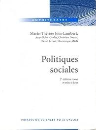 Politiques sociales par Marie-Thérèse Join-Lambert