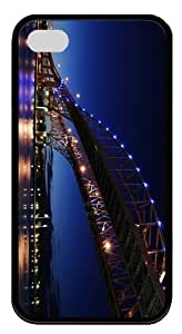 cover top ontario blue water bridge TPU Black Case for iphone 4/4S