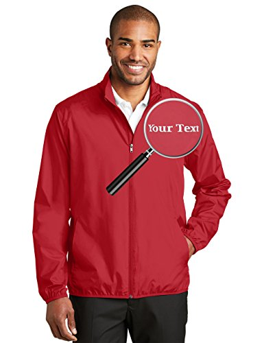 Tee Miracle Custom Embroidered Jackets For Men - Windbreaker Zip Up Embroidery Coach Jacket by Tee Miracle