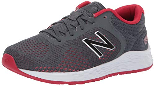 New Balance Boys' Arishi V2 Running Shoe, gunmetal/energy red, 6 M US Big Kid