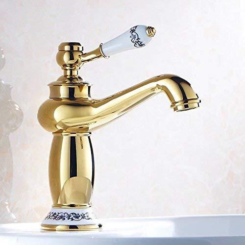 55 Oudan Basin Mixer Tap Bathroom Sink Faucet The golden basin Faucet 17 (color   28)