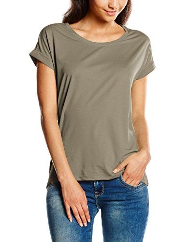 VILA CLOTHES VIDREAMERS PURE T-SHIRT-NOOS - Camiseta para mujer Verde (Vetiver)