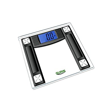 Gurin High Accuracy Digital Bathroom Scale with 4.3  Display and Step-On Technology