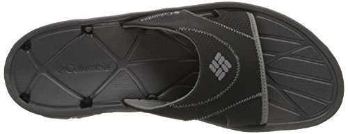 Techsun Men's Columbia Charcoal Vent Black Sandal Slide p801cq