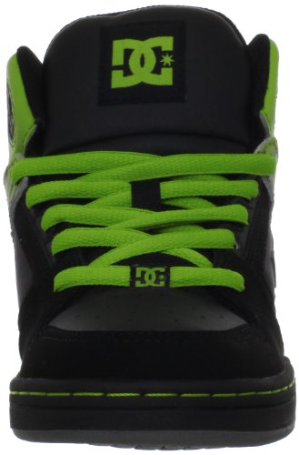 DC Shoes DC Shoes - Schuhe - REBOUND YOUTH SHOE - D0302676B-BBPD - black D0302676B/1 - Zapatillas de skate de cuero para niña Negro (BLACK/LIME BKID)