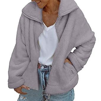 Linlink_Abrigo de Mujer Temporada De OtoñO E Invierno Moda Vintage Mujeres Biker Moto Cuero Cremallera Chaqueta Abrigo Outwear: Amazon.es: Ropa y accesorios