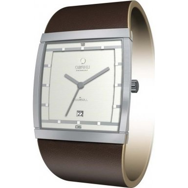 Obaku V102GCIRN Mens Harmony Cream Brown Watch