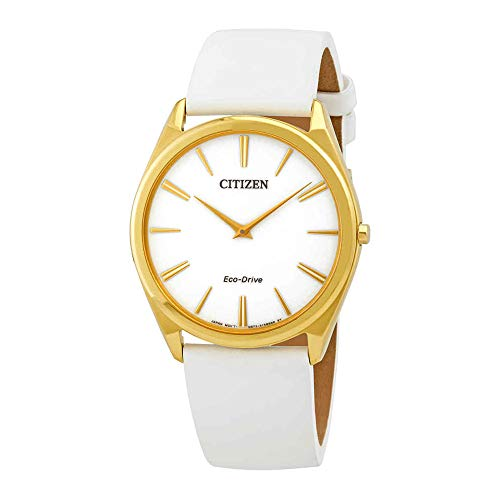 Citizen AR3072-09A Women's Stiletto White Leather Strap Watch