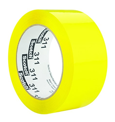 Scotch 86536-case Box Sealing Tape 311, 48 mm x 100 m, Yellow (Pack of ()