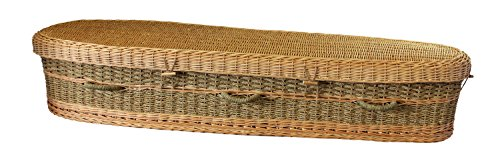 Organic Biodegradable Seagrass Casket for Green / Natural Burial ()