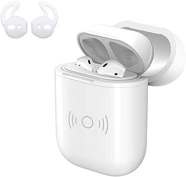 Estuche de Carga inalámbrica para Airpods con Almohadillas de Silicona para iPod, Cargador inalámbrico QI, Soporte para Airpods – Blanco: Amazon.es: Electrónica