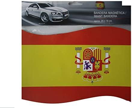 Span Bandera Magnetica Iman para Coche España (25 x 16 cm): Amazon ...