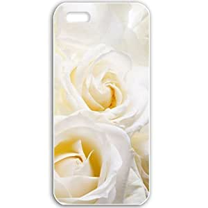 Apple iPhone 5 5S Cases Customized Gifts For Flowers white roses Flowers White