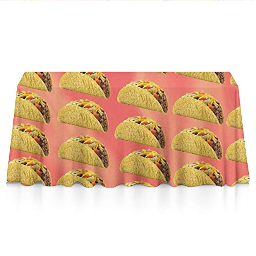 (GLORY ART Premium - Mexican Taco - Water Resistance Rectangle Tablecloth, Wedding/Birthday/Party/Event/Banquet/Restaurant Decor - 60x84 inches Durable Polyester Table Cloth)