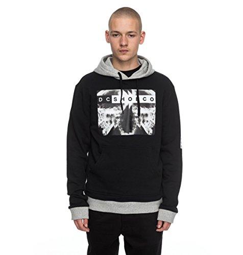 DC Mens X Ray Hoody Pullover Sweatshirt Large Black
