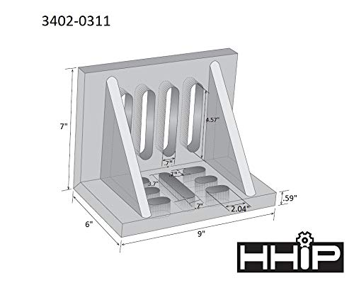 HHIP 3402-0311 9 x 7 x 6'' Slotted Angle Plate, Webbed by HHIP (Image #2)