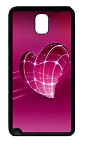 Love Lovers Intimate Romantic Custom Designer Samsung Galaxy Note 3 / Note III/ N9000 - TPU - Black