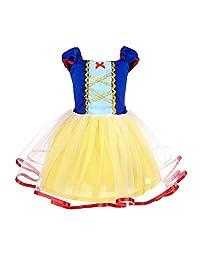 AmzBarley Princess Snow White Costume Girls Dress Kids Party Birthday Clothes 1-4Y