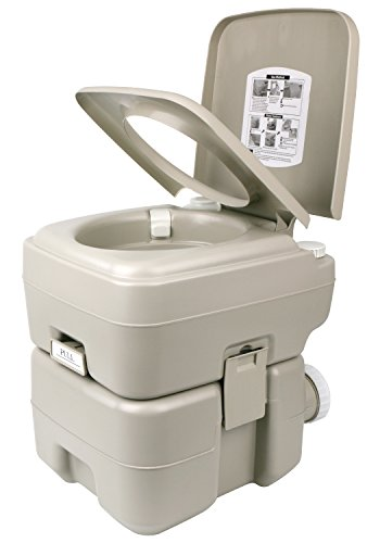 Leopard Outdoor T-Type Three Directional Flush Portable Travel Toilet for Camping,Boating,Hiking,Portable RV Toilets - 5.3 Gallon