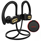 Mpow Running Headphones Wireless Bluetooth Up to 9 Hrs IPX7 Waterproof Rich Bass Stereo Sound Built-In Mic Convenient Control In-Ear Earphones Easy Use Stable Long Lifetime Portable Case Sports Gym
