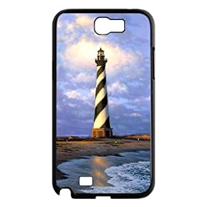 Diy Cool Lighthouse Custom Cover Phone Case for samsung galaxy note 2 Black Shell Phone [Pattern-6]