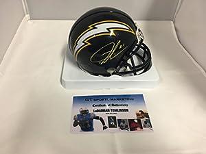 LaDainian Tomlinson Signed Autographed San Diego Chargers Mini Helmet GTSM Hologram & COA Card