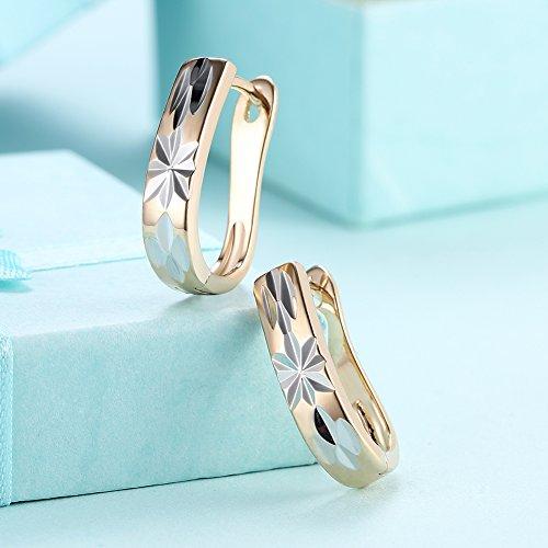 Faysting EU femmes boucles d'oreilles couple boucles d'oreilles cercle clip style or belle forme bon cadeau pour valentine