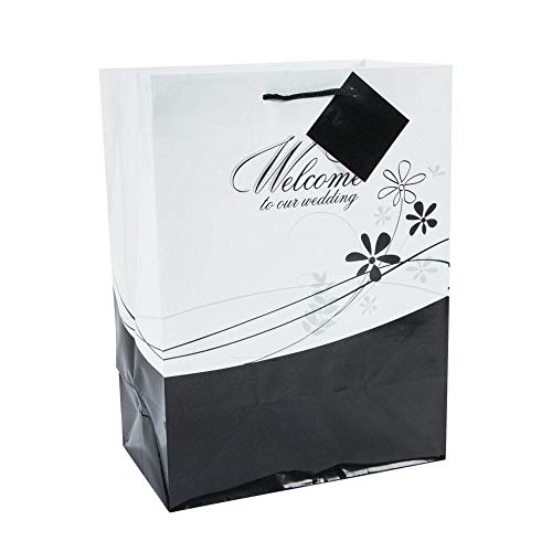 Fun Express Medium Welcome to Our Wedding Gift Bags Set, 1 Dozen