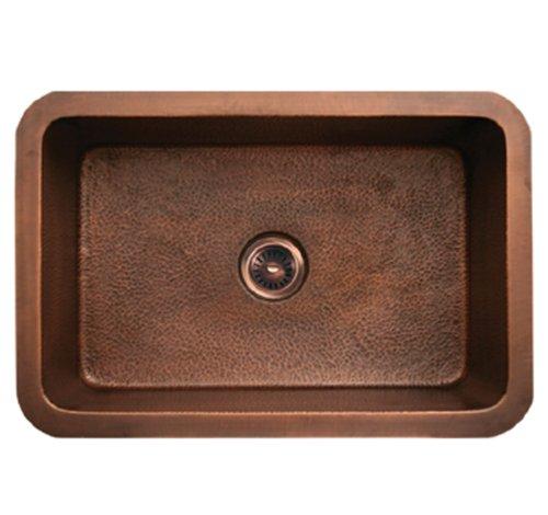 Whitehaus WH3020COUM-SCO Haus 30-Inch Rectangular Undermount Sink with Smooth Texture, Smooth - Rectangular Whitehaus Sink Copper