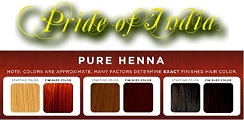 Amazon Com Pride Of India Organic Henna Lawsonia Inermis Hair