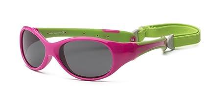 Explorer P2 Niños Gafas de sol polarizadas, ajuste flexible, tamaño 4 + rosa rosa