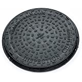 Clark Drain CD452 450mm diameter Polypropelyne 3.5T locking Manhole Cover and frame by Clark-Drain