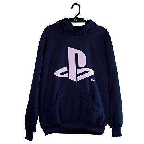 Moletom Brand Logo, Playstation, Adulto Unissex, Preto, P