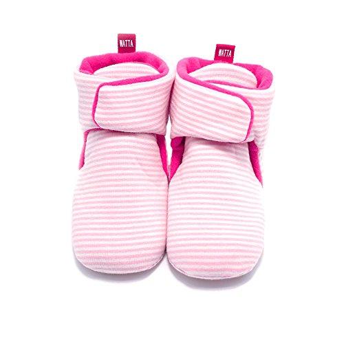 WATTA Baby Hi-Top Warm Up Fleece Lined First Pram Shoes Baby Booties - Image 3