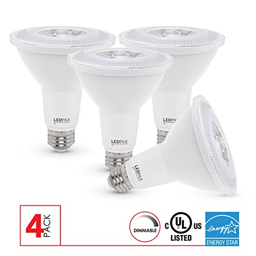 Cheap PAR30 Dimmable LED Bulb, 10W (75W equivalent), 4000K, 800 Lumens, CRI 80, 4 Pack, UL, ES Certified