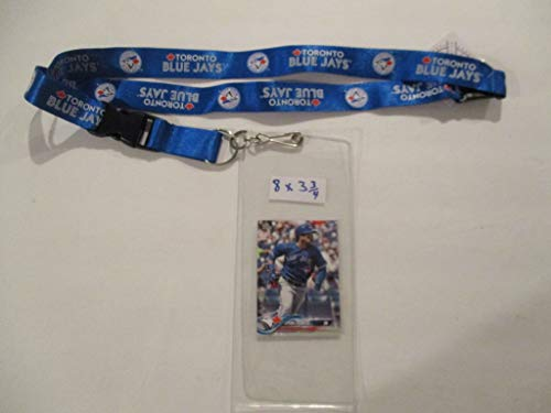 - TORONTO BLUS JAYS LANYARD WITH TICKET HOLDER PLUS COLLLECTIBLE PLAYER CARD