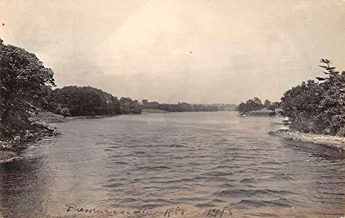 Damariscotta River Maine Scenic Waterfront Real Photo Antique Postcard K431667