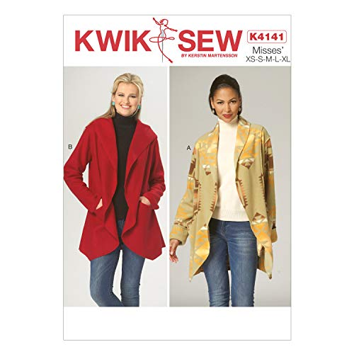 (KWIK-SEW PATTERNS K4141 Misses' Jackets, All Sizes (X-Small-X-Large))