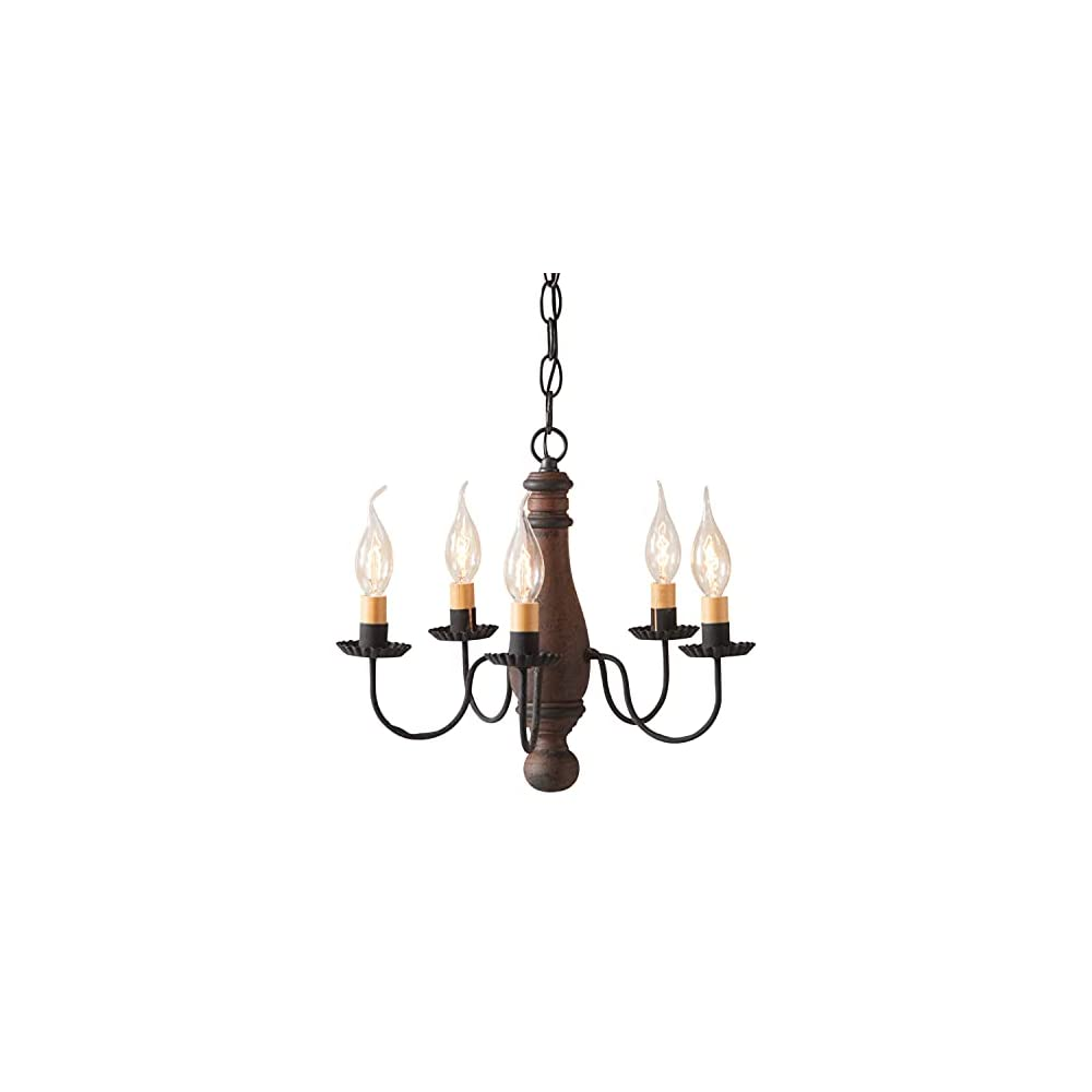 Irvin's Country Tinware Bed and Breakfast Chandelier in Hartford Pumpkin